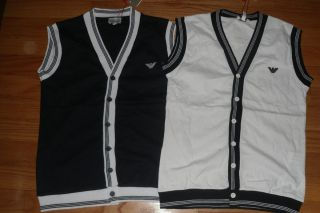 New Boys Armani Junior Boys 2 Logo Sweater Shirt Vest 5 XS  Lot