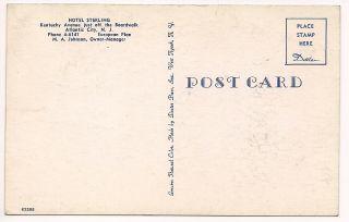 Photo Postcard Hotel Sterling Atlantic City New Jersey Unused