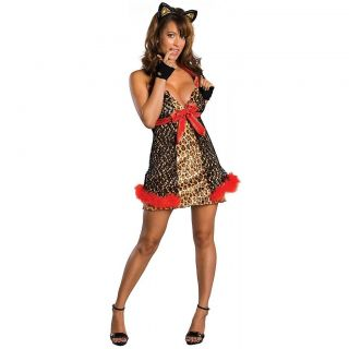 Alley Cat Adult Sexy Leopard Print Jungle Bedroom Lingerie Halloween