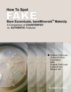 to Spot Fake Bare Escentuals Foundation Mineral V bareMinerals
