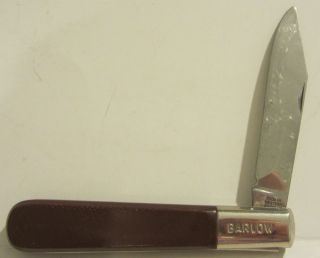 BARLOW SINGLE BLADE FOLDING POCKET KNIFE MADE IN WESTERN GERMANY