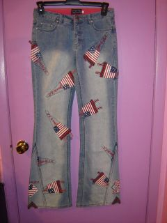 design by impression women s american flags size 29