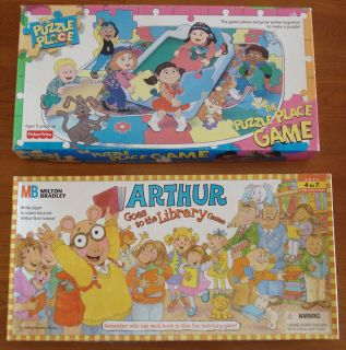 Marc Brown Arthur Goes to the Library Game & The Puzzle Place Game NIB