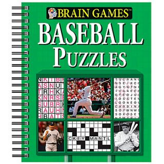 NEW Brain Games Baseball Puzzles Book   Fun Way to Work Your Cognitive