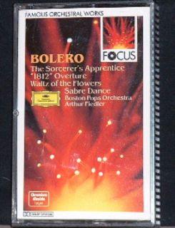 Arthur Fiedler Ravel Bolero 1812 Overture DG Focus 419 655 4 Cassette