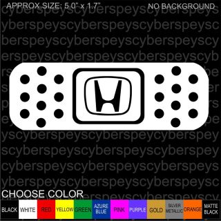 Bandaid Honda JDM Design Car Vinyl Decals Stickers