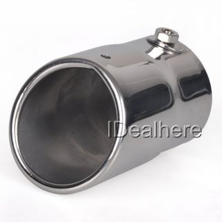 Universal Auto Metal Exhaust Extension Tail Gas Pipe Stainless Steel
