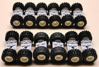 New Lego Wheels Vehicle Parts Car Truck Tire Rim Sets w Axles lbs