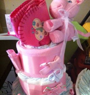 Awesome Baby Girl Diaper Cake Shower Gift Make An OFFER