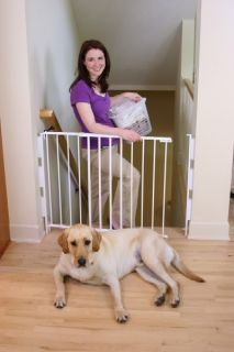 pet baby dog safety gate universal top of stairs gate fits 99 % of all