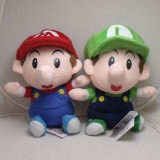 New Nintendo Super Baby Mario Luigi Plush Figure 19cm