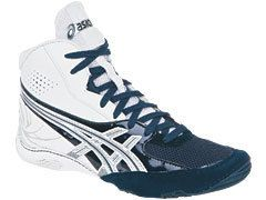 New Mens Asics Cael 4 0 Wrestling Shoes White Navy Silver J901Y 0150
