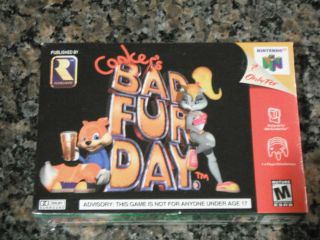 Conkers Bad Fur Day Brand New SEALED Nintendo 64 Game