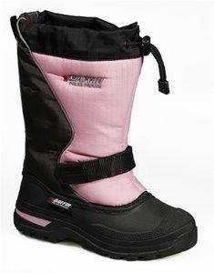baffin mustang youth snowmobile boots black pink rated 40 c 40 f tpr