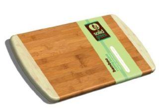 Solid Green Large Two Tone Bamboo Cutting Board 13x10 5