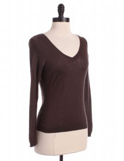 brown v neck sweater by banana republic size s brown long sleeve