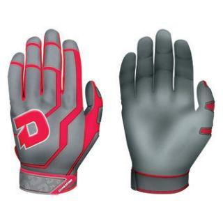 DeMarini Versus Grey Scarlet Batting Gloves Adult Medium
