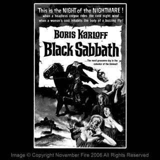 Black Sabbath Boris Karloff Mario Bava Ghost Shirt