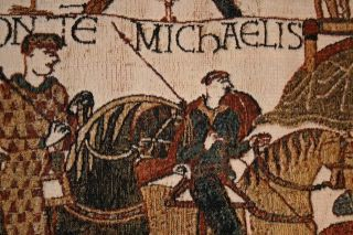 Bayeux Mont St Michael Tapestry Wall Hanging 17X32