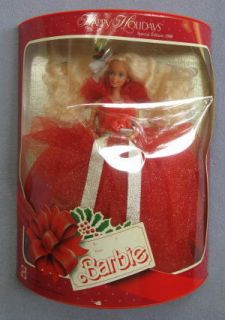 1988 Holiday Happy Holidays Christmas Barbie Doll New in Box Unopened