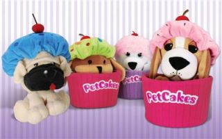 Petcakes Pet Cakes Plush Puppy Dog Toy All 4 Series 1