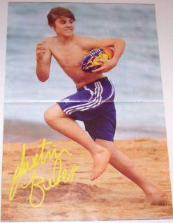 Justin Bieber Beiber SHIRTLESS Barefeet Barefoot Poster
