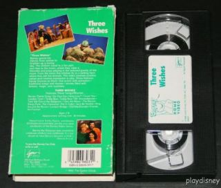 Barney Sing Along Three Wishes VHS