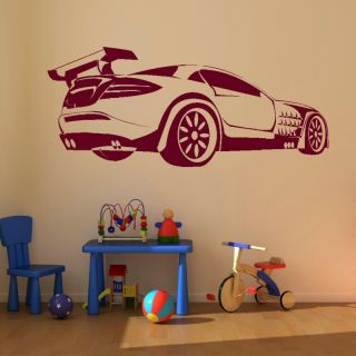 Race Car Kids Room Vinyl Wall Sticker Giant Stencil Vinyl Mural Decal