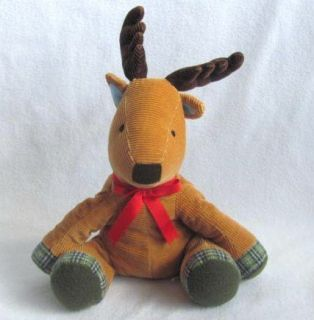 Pbk Pottery Barn Kids Moose Corduroy Reindeer Holiday Plush Stuffed