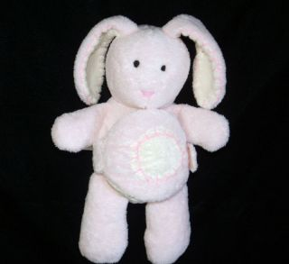Pottery Barn Kids Pink Bunny Plush Cloth Shape Book
