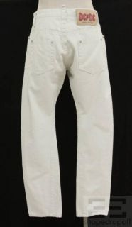 Dsquared2 Neil Barrett 2pc Stone White Denim Mens Jean Set Size 31 48