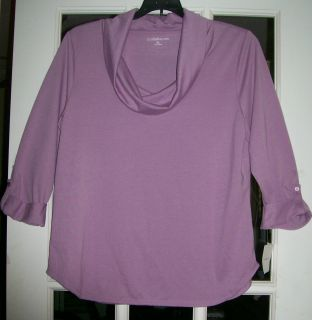 CROFT & BARROW SIZE XL WOMAN PLUS 3/4 SLEEVE COWL NECK TOP/BLOUSE