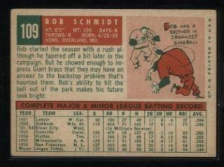 Topps #109 Bob Schmidt XMT San Francisco Giants Premium Vintage Card
