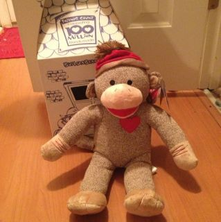 NWT Build A Bear Workshop Sock Monkey SOLD OUT Stuffed Rare Limited