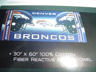 DENVER BRONCOS NFL Licensed FOOTBALL BEACH BATH POOL TOWEL team