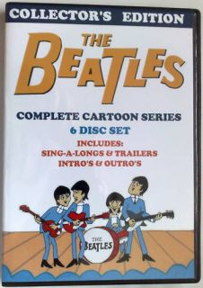 001 1960s The BEATLES Complete Cartoons TV Series 6 Disc DVD Set