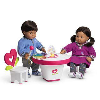 NIB American Girl BITTY BABY ART AND MUSIC ACTIVITY PLAY TABLE