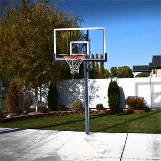 Lifetime® 54 Acrylic in Ground Basketball Hoop Net Power Lift Height