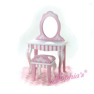 Bathroom Vanity Mirror Chair stool fits 18 American Girl Doll NEW