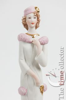 Vittorio Sabadin Elegant Lady With Her Dog Porcelain Figurine