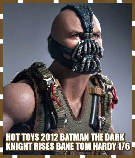 HOT TOYS 2012 BATMAN DARK KNIGHT RISES TDKR BANE TOM HARDY 1 6 VILLAIN