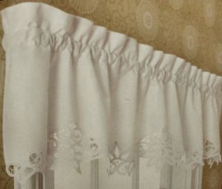 NEW BATTENBURG LACE VINTAGE COTTAGE 16 ROD CURTAINS VALANCE PANELS