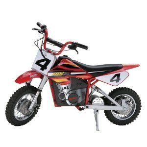Dirt Rocket Electric Motocross Bike Motor Cycle Battery Red New