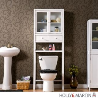 Bathroom Furniture Storage on Bathroom Cabinets  65 Tall Bright White Nantucket Bath Storage Shelf