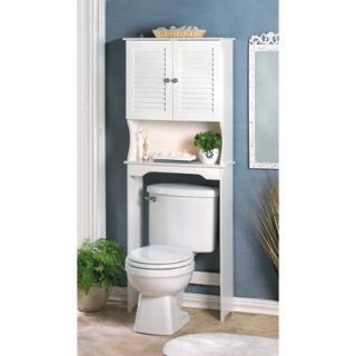 Nantucket Bathroom Space Saver Over Toilet Storage Cabinet White NV