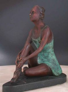 Real Bronze Sculpture Ballerina Dancer Dance Ballet