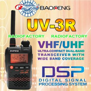 UV 3R BAOFENG 136 174 400 470MHZ Mini Dual Band Radio
