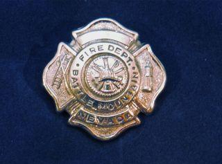 Battle Mountain Nevada Fire Department Badge
