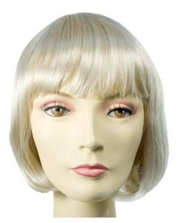 Blonde Short China Doll Wig Bangs Halloween Costume Fancy Dress