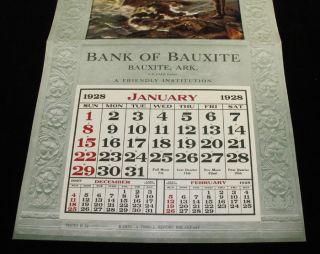Vintage 1928 L Goddard Calendar Pin Up Art Deco Indain Maiden Red Bird